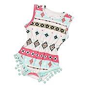bestpriceam Baby Clothes, Newborn Toddler Printing Bodysuit Romper Jumpsuit (0-6M, Red)