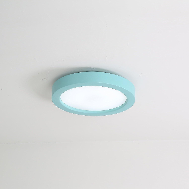 Gelb QINQ6 Deckenleuchten LED Runde Schlafzimmer Esszimmer Wohnzimmer Korridor Beleuchtung Schmiedeeisen Blau Grau Weiß Gelb Beleuchtung Lampe 45CM