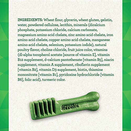 GREENIES Original TEENIE Natural Dog Dental Care Chews Oral Health Dog Treats, 72 oz. Pack (260 Treats)