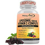Liposomal Vitamin C with Zinc Capsules - Vit C Organic Elderberry, Amla, Camu Camu- Vitamina C High Absorption, Anti Aging, I