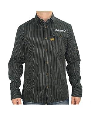 G Star RAW CO Destin Detroit Roll Up Shirt L/S Black, Size L $128
