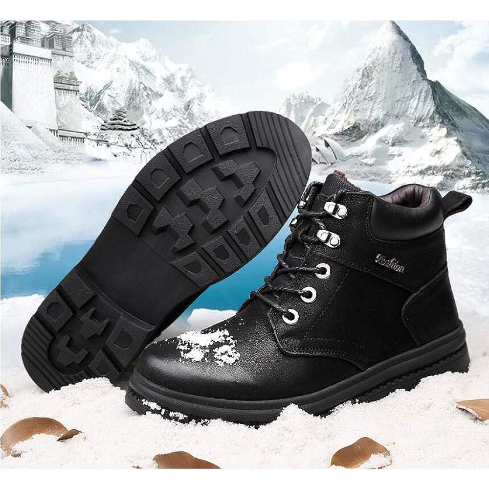 LIJUN LIJUN LIJUN Stiefel Herren Winter Martin Hoch Oben Schnee Warm Stiefel Pelz Gefüttert Rutschfest Beiläufig Draussen Stiefel Schnüren Sie Sich Beim Trekking Schuhe Größe  38-46 1c3e44