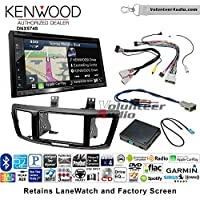 Volunteer Audio Kenwood DNX574S Double Din Radio Install Kit with GPS Navigation Apple CarPlay Android Auto Fits 2013-2015 Honda Accord