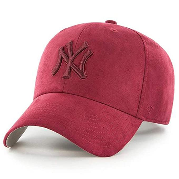 82f696f873d Amazon.com  47 Brand New York Yankees Ultrabasic Suede Tonal Clean Up  Slouch Fit Hat (Maroon)  Sports   Outdoors