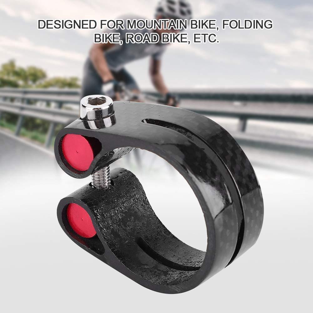 Alomejor 35mm Carbon Mountainbike Fahrrad Sattelklemme Schnellspanner Sattelklemme
