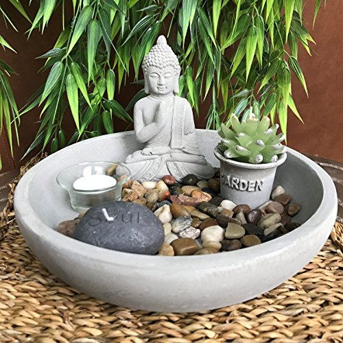 The Table Top Zen Garden Plus Buddha, Includes Soul Stone