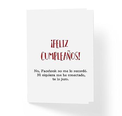 Amazon Feliz Cumpleaos No Facebook No Me Lo Record Ni