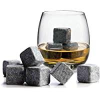 Juego de piedras para el whisky de Trixes, cubitos de hielo seco, set de regalo de Navidad o cumpleaños.Reutilizable
