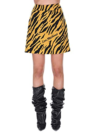 Love Moschino Tiger - Falda para Mujer, Color Amarillo Amarillo ...