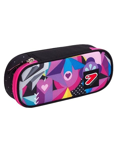 b028c44ae7 PORTAPENNE scuola SEVEN the double - BLACK ROSE - Multicolore - porta penne