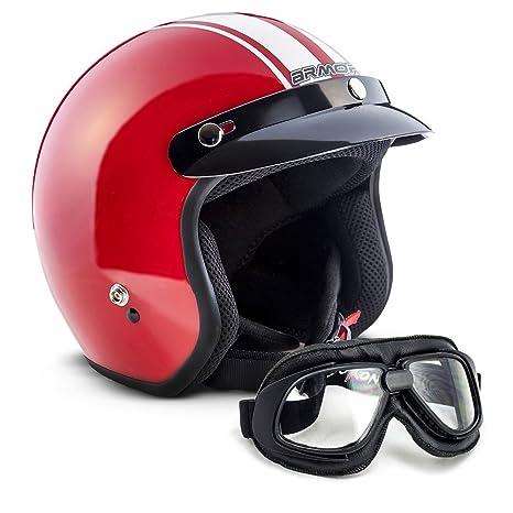 """Armor · AV-47 Set """"Red"""" (red) · Casco moto Demi"""