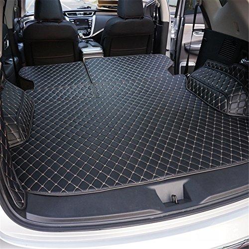 Cargo Nissan Rear Mat (Kust WX34716w Nissan Murano Car Trunk Rear Cargo Liner,(Black)Custom Universal Fit SUV Cargo Mat Fit For 2015 2016 2017 2018 Nissan Murano,1 Piece All Weather Artificial Leather Trunk Mat,Easy Install)