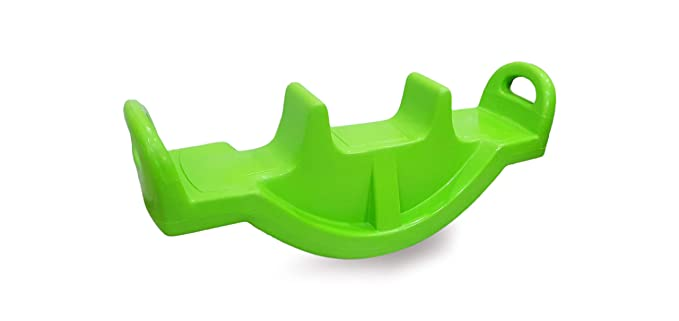 eHomeKart Playgro See Saw Rocker for Kids - Plastic See Saw Jumbo Rocker for Indoors and Outdoors - Perfect Toy for Boys and Girls of Age 1-8 Years - DIMESNSIONS: 118 x 32 x 45 cm (Green)