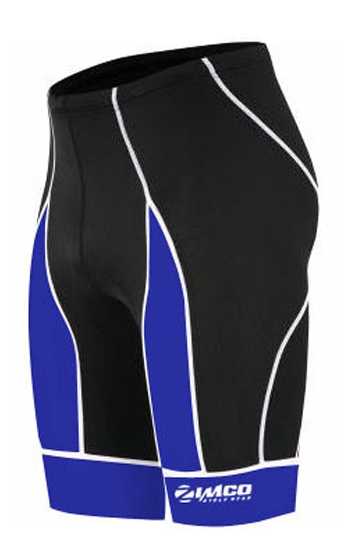 Zimco Men Pro Cycling Shorts Bike Knicks Bicycle Short Coolmax Padded 143 Black//Blue, Medium