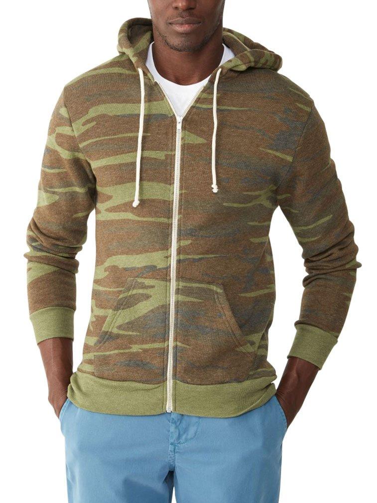 (オルタナティブ)Alternative Rocky Eco-Fleece Zip Hoodie B00D7ZPL6S XXX-Large|カモフラージュグリーン カモフラージュグリーン XXX-Large