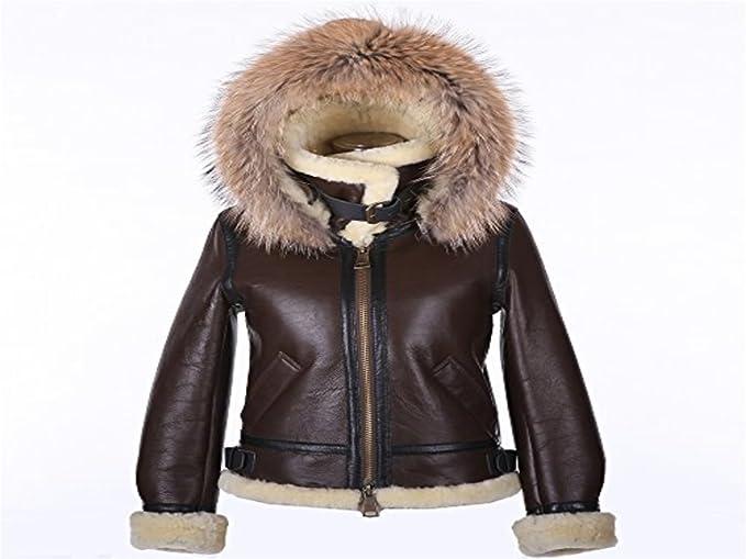 Aviatore B3 Donna Fashion Just Uomo Vera Cappotto Marrone Lungo w4BqX7XAxZ