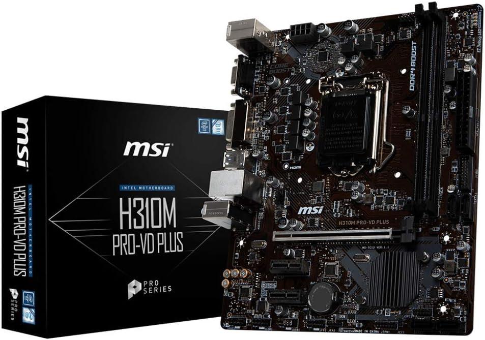 MSI Pro VD Plus Intel H310 LGA1151 Micro ATX DDR4-SDRAM Motherboard