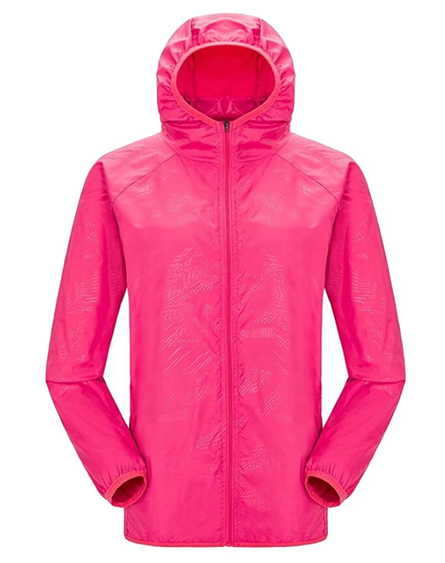 Rrive Mens Hooded UV Protect Skin Runnings Lightweight Windproof Jackets
