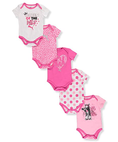 1459e3835caa7 Amazon.com: PUMA Baby Girls' Five Pack Bodysuit Set: Clothing
