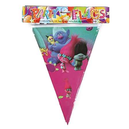 Generic 1pcs wholesale trolls theme flag party decorations baby generic 1pcs wholesale trolls theme flag party decorations baby happy birthday wedding event party supplies for junglespirit Images