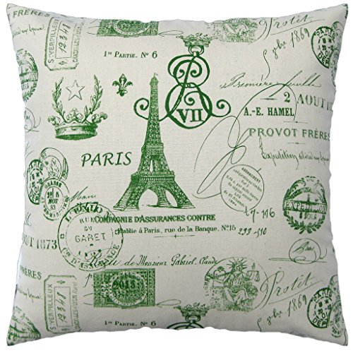Paris Eiffel Tower Stamps Cotton Canvas Decorative