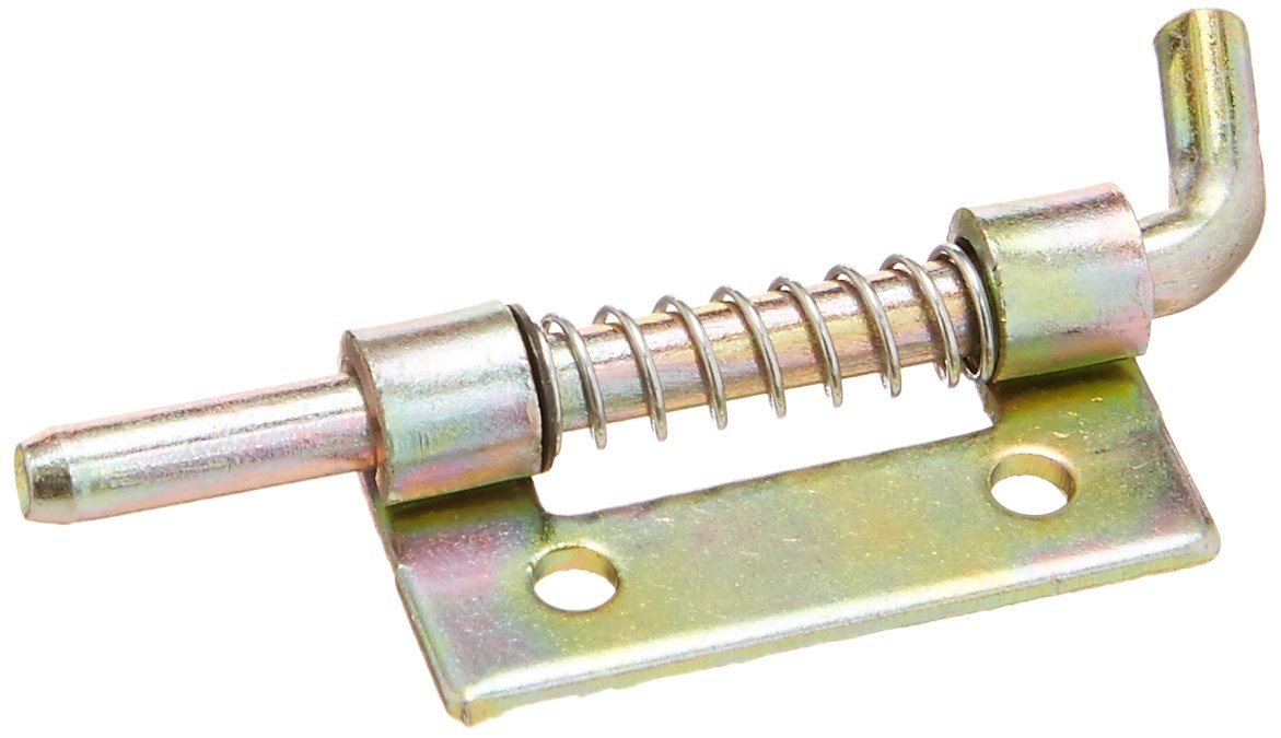 Fixed Type Metal Lock Spring Loaded Barrel Bolt Latch Bronze Tone