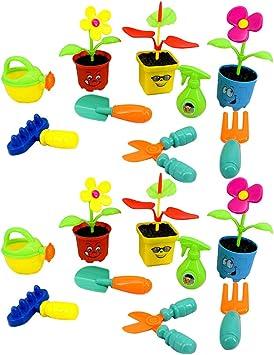 Amazon.es: non-brand 18 Piezas Herramientas de Jardín en Miniatura Juguete Preescolar Educativo para Niños: Juguetes y juegos