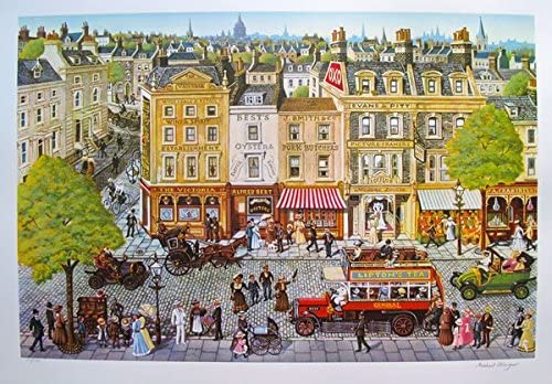 """MICHAEL STRINGER /""""RED BUS/"""" Hand Signed Limited Edition Large Art Serigraph"""