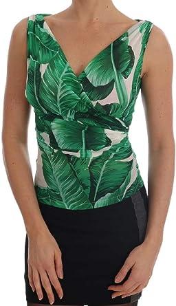Dolce & Gabbana - Camiseta de seda con estampado de plátano ...