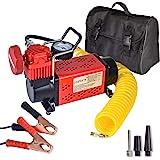 GSPSCN Portable 12V Air Compressor Pump, 150PSI Red Tire Inflator, Heavy Duty Auto Air Pump,for Car, Truck, RV, ATV, Bike,Bal
