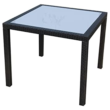 Polyrattan Tisch 90x90.Sparmeile Gmbh Ambientehome Nairobi Poly Rattan Table With