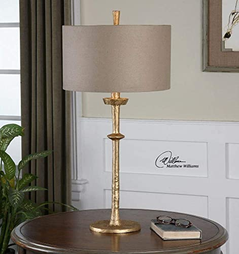 Uttermost 26188 Heraclius One Light Gold Table Lamp Model-26188