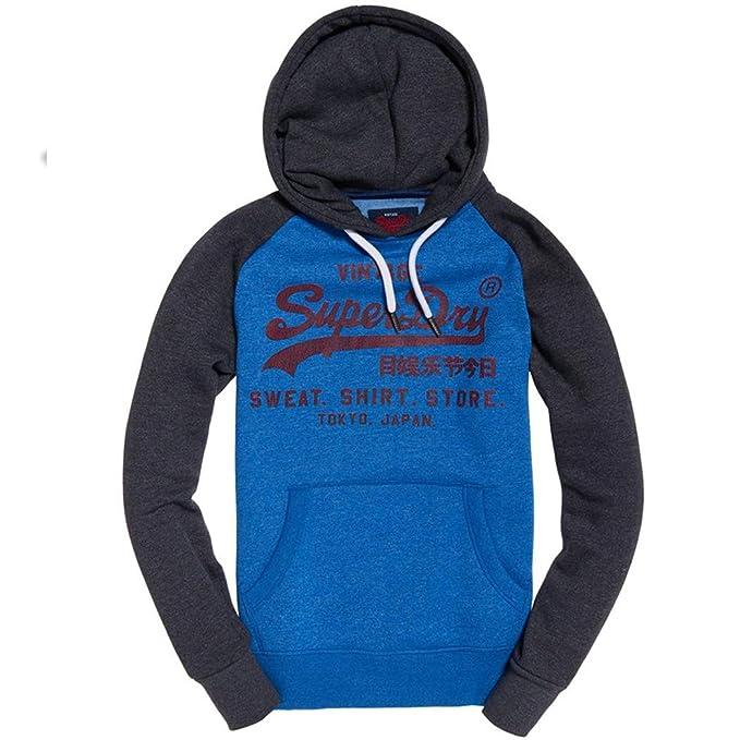 Superdry Herren Kapuzenpullover Blau Portland Cobalt Grit Montana Blue Grit  Gr. XL, Portland 2ca8fd0a54