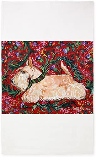 CafePress Wheaten Scottish Terrier On Red 3'X5' Decorative Area Rug