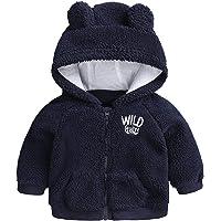chamarra de forro polar con capucha para bebés y niñas
