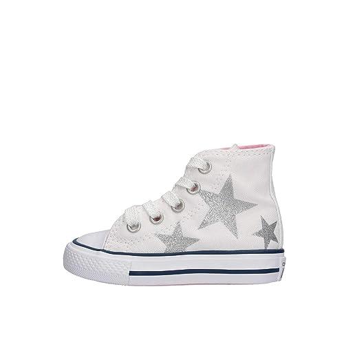 9410f1a84faea Converse 764043C Sneaker Bambino Bianco 25  Amazon.it  Scarpe e borse
