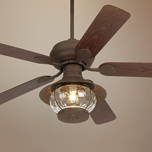 52 casa vieja rustic indooroutdoor ceiling fan amazon aloadofball