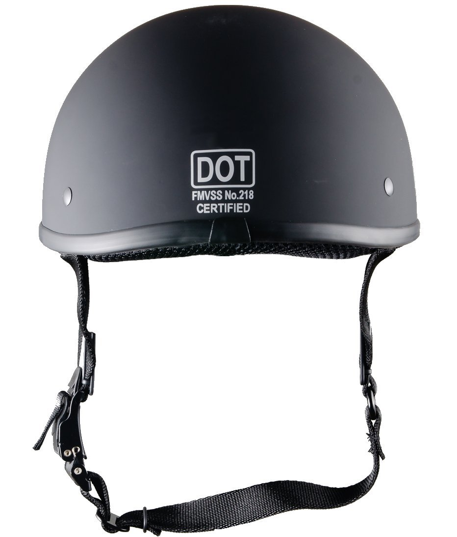 Bikerhelmets.com - World's SmallestMotorcycle Helmet -DOT ApprovedUltra Low Profile Beanie - Flat Black No Peak - X-Large by Bikerhelmets.com (Image #5)