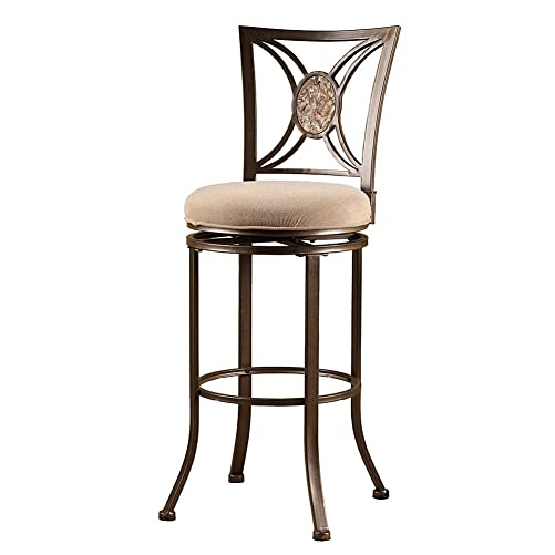 Hillsdale Furniture Swivel Stool in Muted Neutral Finish 26 in. Counter Height