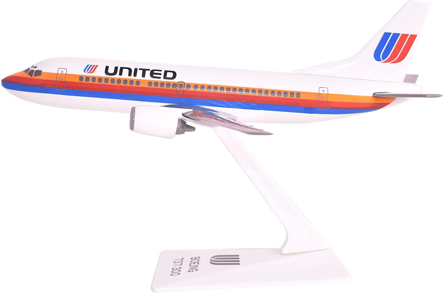 United 76-93 737-300 Airplane Miniature Model Plastic Snap Fit 1:180 Part# ABO-73730F-003
