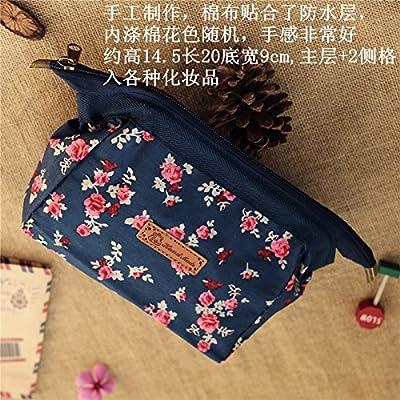 LULANPortable simple et fraîche sac cosmétique, moyennes et petit nombre de diaphragme imperméable pochette ,20*9*14,5cm, rouge