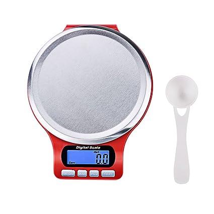 Báscula de Cocina Digital XGUO Báscula de Alimentos 6.6lbs/3kg Mini Peso de Cocina