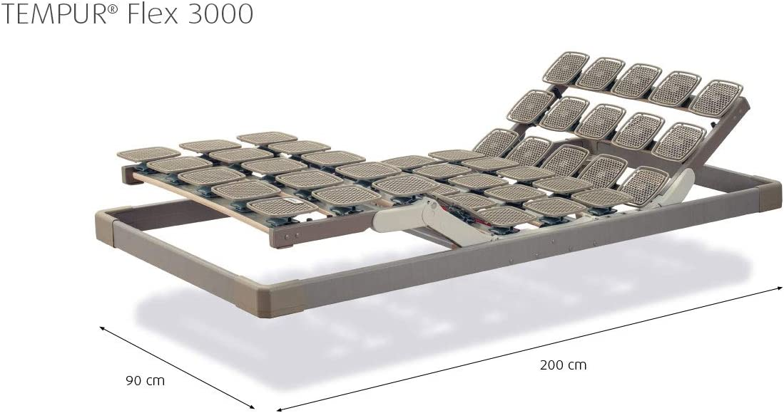 Tempur Flex 3000 Sistema Marco, de 4 Zonas somier eléctrica ...