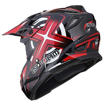latest discount reliable quality first look 1Storm Adult Motocross Helmet BMX MX ATV Dirt Bike Helmet Racing Style  HF801; Sonic Red