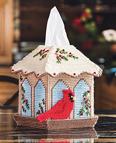 Bird Feeder Tissue Box Cover Plastic Canvas Kit