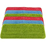 Shitailu 6 Pieces Microfiber Cleaning Pads Reveal Mop 16 x 5.5 inch Fit for Most Spray Mops and Reveal Mops Washable