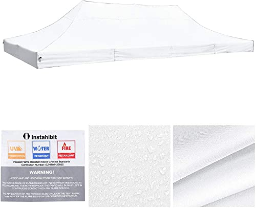Yescom 10×20 ft EZ Pop Up Canopy Top Replacement Instant Patio Pavilion Gazebo Sun Shade Tent 550D Oxford Cover