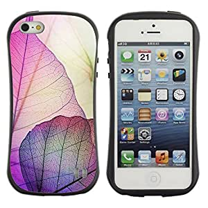 LASTONE PHONE CASE / Suave Silicona Caso Carcasa de Caucho Funda para Apple Iphone 5 / 5S / Autumn Fall Purple Nature