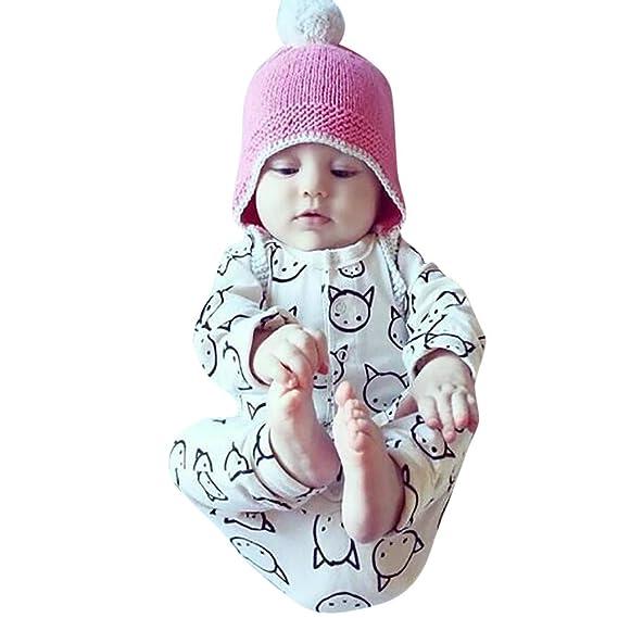 ❤ 0-24M Mameluco para bebé Invierno, recién Nacido bebé niño niña Dibujos Animados Mameluco Mono Trajes Ropa Absolute: Amazon.es: Ropa y accesorios