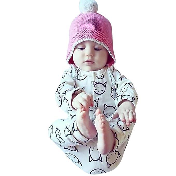 ❤ 0-24M Mameluco para bebé Invierno, recién Nacido bebé niño niña ...